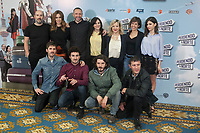 Cast actors Blanca Suarez, Yon Gonzalez, Julian Lopez,  Miki Esparbe, Malena Alterio, Younes Bichir, Ursula Corbero, Carmen Machi and Javier Camara and director Nacho Velilla pose during `Perdiendo el Norte´ film presentation photocall in Madrid, Spain. March 03, 2015. (ALTERPHOTOS/Victor Blanco)