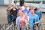 Richard Collett, Pinewood Estate, Killarney, pictured with Eileen, Daniel and Rachel Collett, Susan, Aoibhe and Adrian Bartlett, Mary and Kevin O'Sullivan, Sheila and Donal O'Connor, Margaret McLellan and Mike Scannell as he headed off to Nenagh for his 60th birthday celebrations on Saturday.......