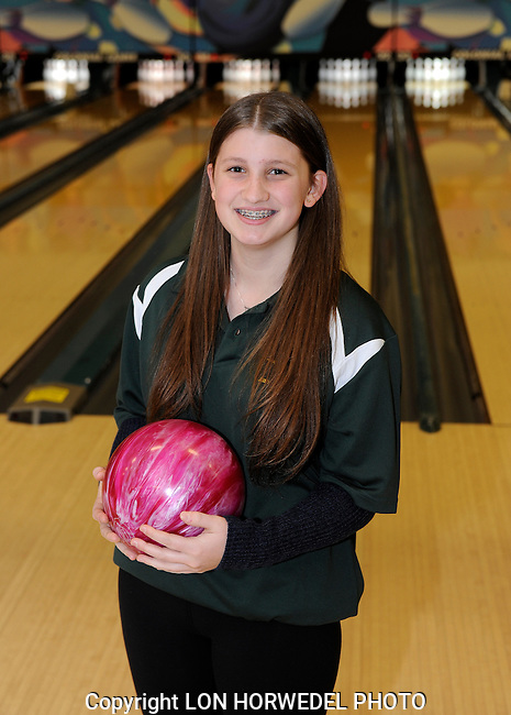 Huron High School girl's bowling team.