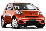Low aggressive passenger side front three quarter view of a 2012 Scion IQ.