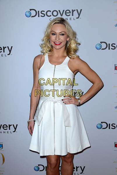 LONDON, ENGLAND - MARCH 28: Kristina Rihanoff; Robin Windsor attend the Broadcasting Press Guild Awards sponsored by The Discovery Channel at Theatre Royal on March 28, 2014 in London, England.<br /> CAP/JOR<br /> &copy;Nils Jorgensen/Capital Pictures