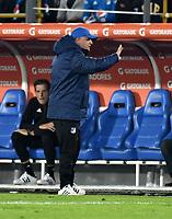 BOGOTA - COLOMBIA – 28 - 02 - 2018: Hugo Gottardi, técnico de Millonarios (COL), durante partido entre Millonarios (COL) y Corinthians (BRA), de la fase de grupos, grupo 7, fecha 1 de la Copa Conmebol Libertadores 2018, en el estadio Nemesio Camacho El Campin, de la ciudad de Bogota. / Hugo Gottardi, coach of Millonarios (COL), during a match between Millonarios (COL) and Corinthians (BRA), of the group stage, group 7, 1st date for the Conmebol Copa Libertadores 2018 in the Nemesio Camacho El Campin stadium in Bogota city. VizzorImage / Luis Ramirez / Staff.