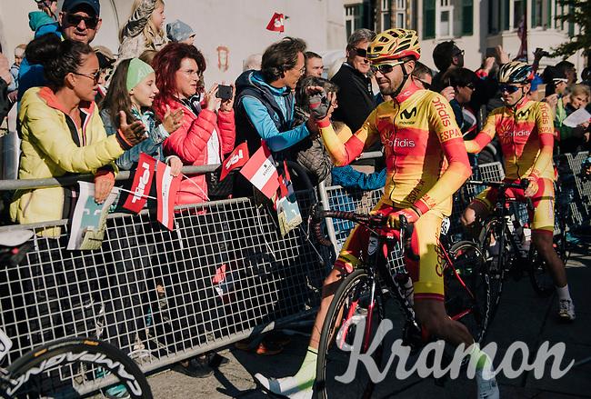 Jesus Herrada (ESP/Cofidis) at the race start<br /> <br /> MEN ELITE ROAD RACE<br /> Kufstein to Innsbruck: 258.5 km<br /> <br /> UCI 2018 Road World Championships<br /> Innsbruck - Tirol / Austria