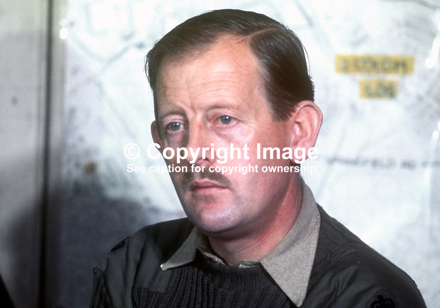 Major Peter Spurgeon, second in command, 41 Commando Group, Royal Marines, pictured whilst serving in N Ireland. 1970110367<br /> <br /> Copyright Image from Victor Patterson,<br /> 54 Dorchester Park, Belfast, UK, BT9 6RJ<br /> <br /> t1: +44 28 90661296<br /> t2: +44 28 90022446<br /> m: +44 7802 353836<br /> <br /> e1: victorpatterson@me.com<br /> e2: victorpatterson@gmail.com<br /> <br /> For my Terms and Conditions of Use go to<br /> www.victorpatterson.com