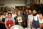 New York, NY - September 19, 2017: Michael Harlan Turkell, author of the new cookbook, 'Acid Trip' gathered chefs from around the country to prepare a vinegar-centric dinner at the James Beard House.<br /> <br /> <br /> Credit: Clay Williams for The James Bear Foundation.<br /> <br /> &copy; Clay Williams / http://claywilliamsphoto.com