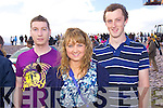 Chris Courtney, Jemma Doyle and John Doyle, Beaufort pictured at Glenbeigh Races at Rossbeigh Beach on Sunday.