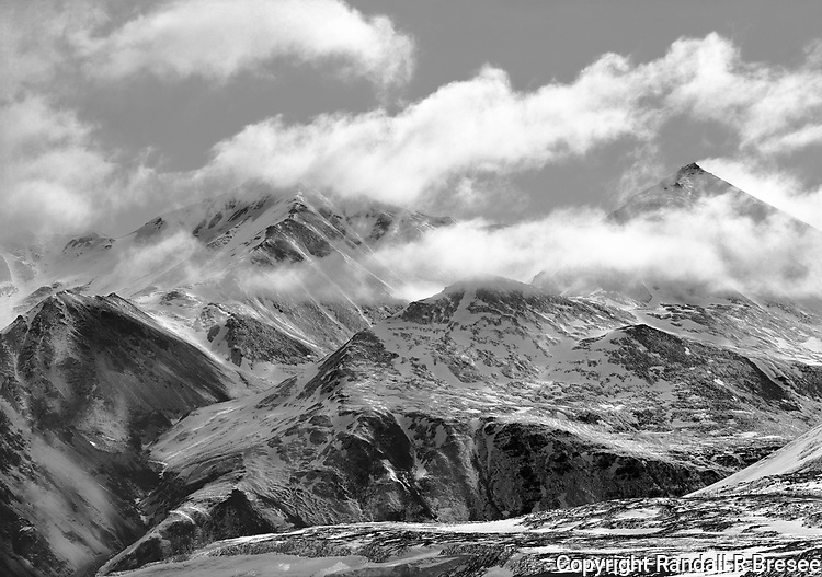&quot;Peaks of the Brooks Range&quot; Alaska <br /> <br /> The Brooks Range lies north of Fairbanks, Alaska above the Arctic Circle. This black and white photograph shows the magnificence of some of the peaks in these mountains.