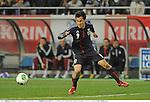 Shinji Okazaki (JPN),.FEBRUARY 6, 2013 - Football / Soccer :.Kirin Challenge Cup 2013 match between Japan 3-0 Latvia at Home's Stadium Kobe in Hyogo, Japan. (Photo by Takamoto Tokuhara/AFLO)