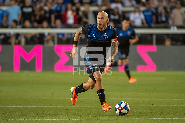 San Jose, CA - Saturday August 03, 2019: Magnus Eriksson #7 in a Major League Soccer (MLS) match between the San Jose Earthquakes and the Columbus Crew at Avaya Stadium.