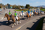 the Kerry Foxhounds arriving into Killarney after riding  the Ring of Kerry in aid of Cancer research on Sunday