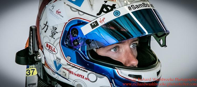 2 Sam Bird (GBR)  DS Virgin Racing Formula E Team  Formula E Test Day  Donington  17th August 2015 Raw<br /> <br /> Photo:  - Richard Washbrooke Photography