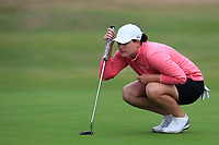 Caroline Masson (GER) on the 1st green during Round 2 of the Ricoh Women's British Open at Royal Lytham &amp; St. Annes on Friday 3rd August 2018.<br /> Picture:  Thos Caffrey / Golffile<br /> <br /> All photo usage must carry mandatory copyright credit (&copy; Golffile | Thos Caffrey)