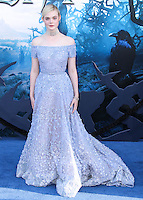 HOLLYWOOD, LOS ANGELES, CA, USA - MAY 28: Elle Fanning at the World Premiere Of Disney's 'Maleficent' held at the El Capitan Theatre on May 28, 2014 in Hollywood, Los Angeles, California, United States. (Photo by Xavier Collin/Celebrity Monitor)