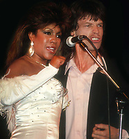 Mary Wilson and Mick Jagger 1988<br /> Photo By John Barrett/PHOTOlink