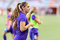Houston, TX - Saturday Sept. 03, 2016: Alex Morgan prior to a regular season National Women's Soccer League (NWSL) match between the Houston Dash and the Orlando Pride at BBVA Compass Stadium.