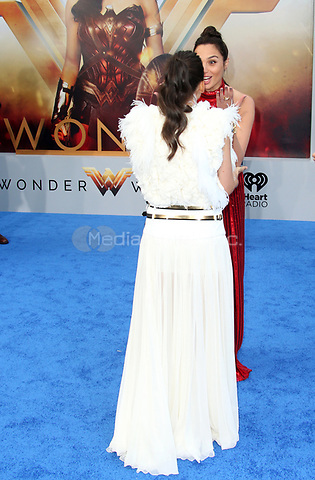 HOLLYWOOD, CA - MAY 25: Elena Anaya, Gal Gadot, at the Wonder Woman Los Angeles Film Premiere at The Pantages in Hollywood, California on May 25, 2017. Credit: Faye Sadou/MediaPunch