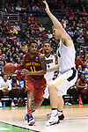 MILWAUKEE, WI - MARCH 18: Iowa State Cyclones guard Monte Morris (11) dribbles along the baseline during the second half of the 2017 NCAA Men's Basketball Tournament held at BMO Harris Bradley Center on March 18, 2017 in Milwaukee, Wisconsin. (Photo by Jamie Schwaberow/NCAA Photos via Getty Images)