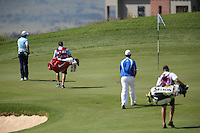 Tommy Fleetwood (ENG) is first on the 10th with a short putt for birdie during Round Two of The Tshwane Open 2014 at the Els (Copperleaf) Golf Club, City of Tshwane, Pretoria, South Africa. Picture:  David Lloyd / www.golffile.ie