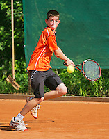 August 4, 2014, Netherlands, Dordrecht, TC Dash 35, Tennis, National Junior Championships, NJK,  Lars Gillissen (NED)<br /> Photo: Tennisimages/Henk Koster