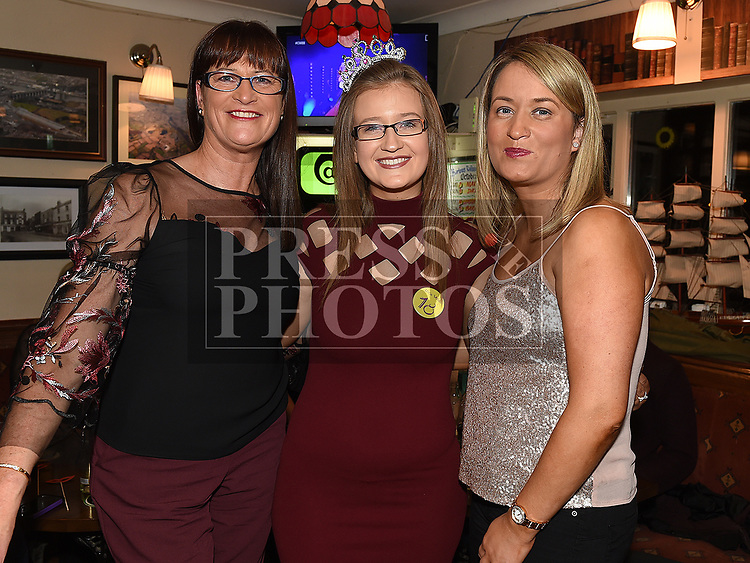 Caoimhe Connor celebrating her 18th birthday with her mam Deborah Mullan and grandmother Patricia Harrison in the Railway Arms. Photo:Colin Bell/pressphotos.ie