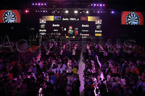 13.06.2015. Frankfurt, Germany. BWIN, PDC World Cup of Darts.  Wales versus Hong Kong as the crowd fill the hall