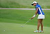 Malini Rudra of Syosset putts on the 10th Hole of Bethpage State Park's Yellow Course during the second round of the NYSPHSAA girls golf state championship on Sunday, June 3, 2018.