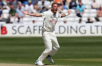 Stuart Broad of Notinghamshire appeals for the wicket of Sir Alastair Cook during Essex CCC vs Nottinghamshire CCC, Specsavers County Championship Division 1 Cricket at The Cloudfm County Ground on 16th May 2019