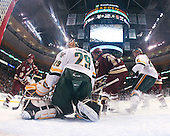 Ben Smith (BC - 12), Joe Fallon (Vermont - 29), Brian Gibbons (BC - 17), Kevan Miller (Vermont - 15) - The Boston College Eagles defeated the University of Vermont Catamounts 4-0 in the Hockey East championship game on Saturday, March 22, 2008, at TD BankNorth Garden in Boston, Massachusetts.