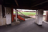 Pitch viewed from the underneath the south west stand.....© Phill Heywood.tel 07806 775649