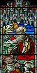 Stained glass window, Claydon church, Suffolk, England, UK c 1894 A L Moore,  Garden of  Gethsemane,