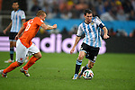 Jordy Clasie (NED), Lionel Messi (ARG),<br /> JULY 9, 2014 - Football / Soccer : FIFA World Cup 2014 semi-finals match between Netherlands and Argentina at Arena de Sao Paulo in Sao Paulo Brazil.<br /> (Photo by FAR EAST PRESS/AFLO)