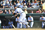 5 March 2009: Detroit Tigers' first baseman Jeff Larish in action during a Spring Training game against the Washington Nationals at Joker Marchant Stadium in Lakeland, Florida. The Tigers defeated the visiting Nationals 10-2 in the Grapefruit League matchup. Mandatory Photo Credit: Ed Wolfstein Photo