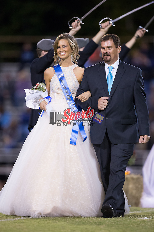 The East Rowan High School celebrated Homecoming at halftime of the football game against the West Rowan Falcons at East Rowan High School on October 15, 2015, in Salisbury, North Carolina.  The Falcons defeated the Mustangs 28-7.  (Brian Westerholt/Sports On Film)