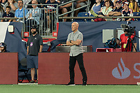 FOXBOROUGH, MA - AUGUST 4: Bob Bradley of Los Angeles FC during a game between Los Angeles FC and New England Revolution at Gillette Stadium on August 3, 2019 in Foxborough, Massachusetts.