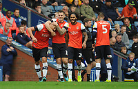 Luton Town's Matty Pearson (left) celebrates scoring his side's second goal with team-mates<br /> <br /> Photographer Kevin Barnes/CameraSport<br /> <br /> The EFL Sky Bet Championship - Blackburn Rovers v Luton Town - Saturday 28th September 2019 - Ewood Park - Blackburn<br /> <br /> World Copyright © 2019 CameraSport. All rights reserved. 43 Linden Ave. Countesthorpe. Leicester. England. LE8 5PG - Tel: +44 (0) 116 277 4147 - admin@camerasport.com - www.camerasport.com