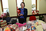 Lucita Shorter on her stall at the Sale of Work in St. Mary's Parish Hall in Julianstown. Photo: Andy Spearman.