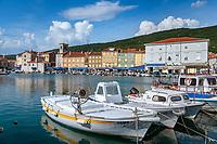 Croatia, Kvarner Gulf, Cres: harbour and old town | Kroatien, Kvarner Bucht, Cres: Hafen und Altstadt