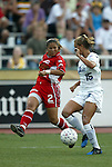 2 August 2003: Lorrie Fair (2) and Julie Augustyniak (15). The Philadelphia Charge defeated the Atlanta Beat 3-0 at Villanova Stadium in Villanova, PA in a regular season WUSA game.