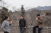 Tourists at the Badaling Great Wall.