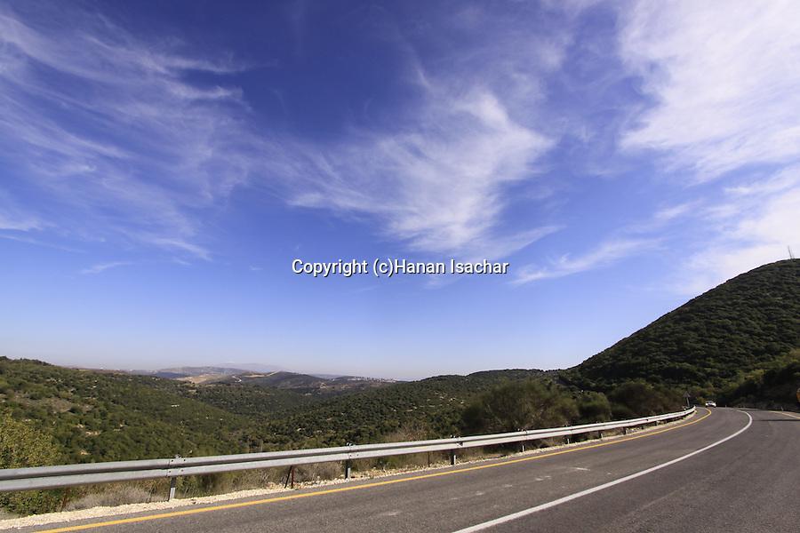 Israel, Road 899 in the Upper Galilee