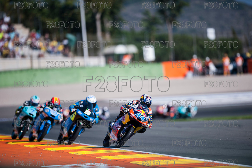 VALENCIA, SPAIN - NOVEMBER 8: Miguel Oliveira, Romano Fenati, Jorge Navarro, Efren Vazquez during Valencia MotoGP 2015 at Ricardo Tormo Circuit on November 8, 2015 in Valencia, Spain