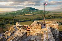 Ruins of Szigiglet castle, Balaton, Hungary.