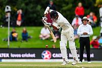 Jeet Raval of the Black Caps during Day 4 of the Second International Cricket Test match, New Zealand V England, Hagley Oval, Christchurch, New Zealand, 2nd April 2018.Copyright photo: John Davidson / www.photosport.nz