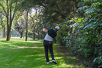 Jon Rahm (ESP) hits his second shot on 10 from the tree line leaving it just past the hole during round 1 of the World Golf Championships, Mexico, Club De Golf Chapultepec, Mexico City, Mexico. 3/1/2018.<br /> Picture: Golffile | Ken Murray<br /> <br /> <br /> All photo usage must carry mandatory copyright credit (&copy; Golffile | Ken Murray)