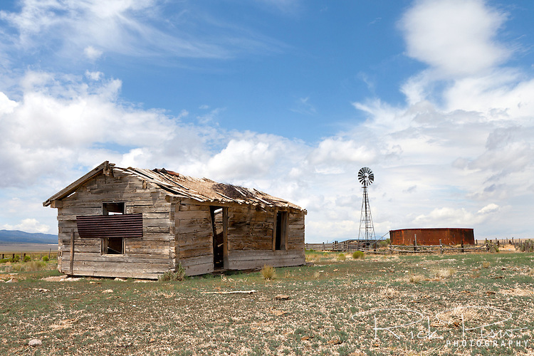 Ranch house and water tank, eastern Nevada.