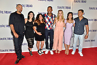 MIAMI, FL - JULY 25: Director David Ayer, artist Amanda Valdes, artist Didirok, Actor Will Smith,  actress Margot Robbie, actress Karen Fukuhara and actor Jay Hernandez attend the 'Suicide Squad' Wynwood Block Party and Mural Reveal with cast on July 25, 2016 in Miami, Florida.    Credit: MPI10 / MediaPunch