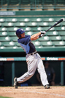 Tampa Bay Rays third baseman Jim Haley (38) during an Instructional League game against the Baltimore Orioles on September 19, 2016 at Ed Smith Stadium in Sarasota, Florida.  (Mike Janes/Four Seam Images)