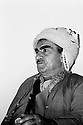 Iraq 1971. Mustafa Barzani in his office of Haj Omran   Irak 1971 Mustafa Barzani dans son bureau de Haj Omran