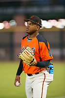 AZL Giants Heliot Ramos (31) during the game against the AZL Reds on August 12, 2017 at Scottsdale Stadium in Scottsdale, Arizona. AZL Giants defeated the AZL Reds 1-0. (Zachary Lucy/Four Seam Images)