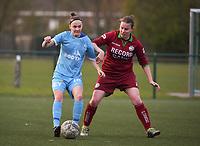 Beker van Belgie Vrouwen <br /> 1/2 finale : SV Zulte Waregem - AA Gent Ladies :<br /> Elke Van Gorp (L) in strijd met Jolien Badie (R)<br /> <br /> Foto VDB / Bart Vandenbroucke